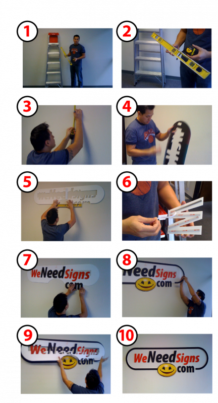 Step by step pics. on how to install a lobby logo