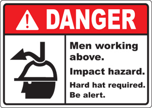 Construction site safety signs dangermen working abovedmwa sh001 sciox Gallery