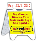 Dry-Erase Board Rider for A-Frame
