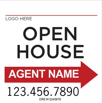 White Open House Red Arrow Super A-Frame for Keller Williams :: 20 ...