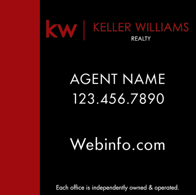 Kw Yard Sign Red Black 24x24 Keller Williams For Sale