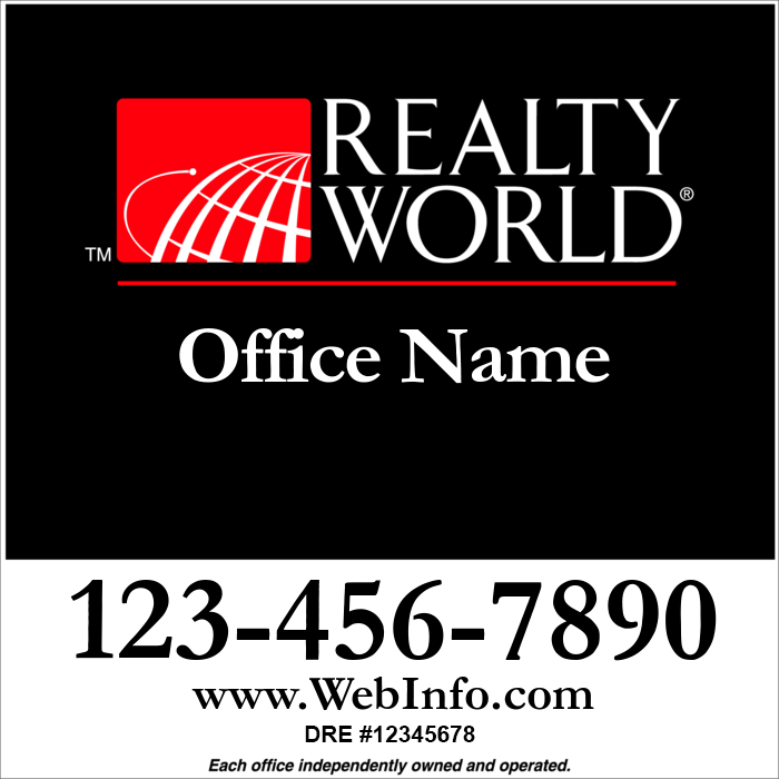 Realty World Red Amp Black Office 24x24 Realty World For