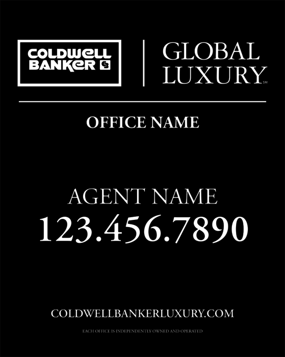 coldwell banker global luxury yard sign 24x30    coldwell